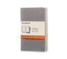 Moleskine Pebble Grey Ruled Cahier Pocket Journal, Notebook / blank book