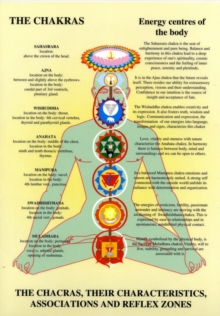Chakras : Their Characteristics, Associations and Reflexzones, Poster