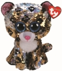 Sterling Leopard Flippable Beanie Boo - Book