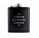 I DRINK & KNOW THINGS HIP FLASK - Book