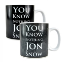 GoT - 'You Know Nothing Jon Snow' Heat Change Mug - Book