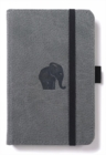 Dingbats A6 Pocket Wildlife Grey Elephant Notebook - Dotted - Book
