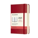 Moleskine 2021 12-Month Daily Pocket Hardcover Diary : Scarlet Red - Book