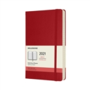 Moleskine 2021 12-Month Daily Large Hardcover Diary : Scarlet Red - Book