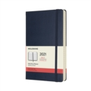 Moleskine 2021 12-Month Daily Large Hardcover Diary : Sapphire Blue - Book