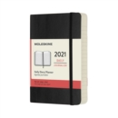 Moleskine 2021 12-Month Daily Pocket Softcover Diary : Black - Book