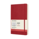 Moleskine 2021 12-Month Daily Large Softcover Diary : Scarlet Red - Book