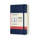 Moleskine 2021 12-Month Daily Pocket Softcover Diary : Sapphire Blue - Book