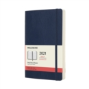 Moleskine 2021 12-Month Daily Large Softcover Diary : Sapphire Blue - Book