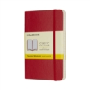 Moleskine Scarlet Red Pocket Squared Notebook Soft - Book