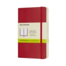 Moleskine Scarlet Red Pocket Plain Notebook Soft - Book