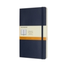 Moleskine Sapphire Blue Large Ruled Notebook Soft - Book