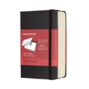 2019 Moleskine Black Pocket Daily 12-month Desk Calendar Hard - Book