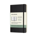 2020 12 MONTH POCKET WEEKLY DIARY BLACK - Book