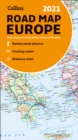 Map of Europe 2021 : Folded Road Map - Book