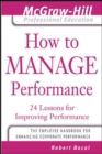 How to Manage Performance - Book