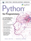 Python for Programmers : with Big Data and Artificial Intelligence Case Studies - Book