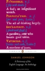 A Dictionary of the English Language: an Anthology - Book