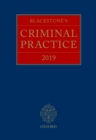 Blackstone's Criminal Practice 2019 - eBook