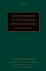 A Restatement of the English Law of Contract - eBook