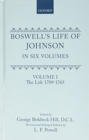 Boswell's Life of Johnson : Volumes 1-4 - Book