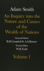 The Glasgow Edition of the Works and Correspondence of Adam Smith: Volume I and II An Inquiry into the Nature and Causes of the Wealth of Nations - Book