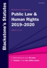 Blackstone's Statutes on Public Law & Human Rights 2019-2020 - Book