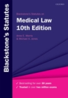 Blackstone's Statutes on Medical Law - Book