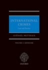 International Crimes: Volume I: Genocide - Book