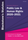 Blackstone's Statutes on Public Law & Human Rights 2020-2021 - Book