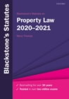 Blackstone's Statutes on Property Law 2020-2021 - Book