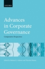 Advances in Corporate Governance : Comparative Perspectives - Book