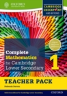 Complete Mathematics for Cambridge Lower Secondary Teacher Pack 1 : For Cambridge Checkpoint and Beyond - Book