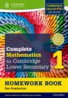 Complete Mathematics for Cambridge Lower Secondary Homework Book 1 (Pack of 15) : For Cambridge Checkpoint and beyond - Book
