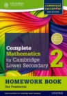 Complete Mathematics for Cambridge Lower Secondary Homework Book 2 (Pack of 15) : For Cambridge Checkpoint and beyond - Book