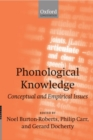Phonological Knowledge : Conceptual and Empirical Issues - Book