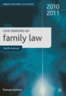 Core Statutes on Family Law - Book