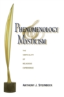 Phenomenology and Mysticism : The Verticality of Religious Experience - Book