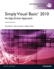 Simply Visual Basic 2010: An App-Driven Approach : International Edition - eBook
