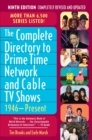 Complete Directory to Prime Time Network and Cable TV Shows, 1946-Present - eBook