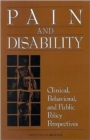 Pain and Disability : Clinical, Behavioral, and Public Policy Perspectives - Book