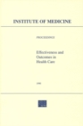 Effectiveness and Outcomes in Health Care : Proceedings of an Invitational Conference - eBook