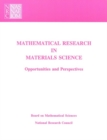 Mathematical Research in Materials Science : Opportunities and Perspectives - eBook