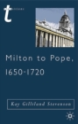 Milton to Pope, 1650-1720 - Book