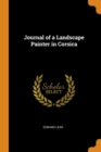 Journal of a Landscape Painter in Corsica - Book