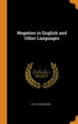 Negation in English and Other Languages - Book