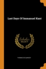 Last Days of Immanuel Kant - Book