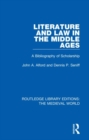 Literature and Law in the Middle Ages : A Bibliography of Scholarship - Book