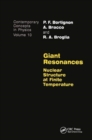 Giant Resonances - Book