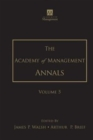 The Academy of Management Annals, Volume 5 - Book
